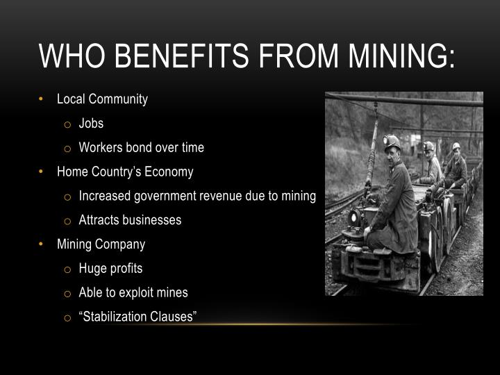 Who benefits from mining: