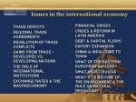 issues in the international economy