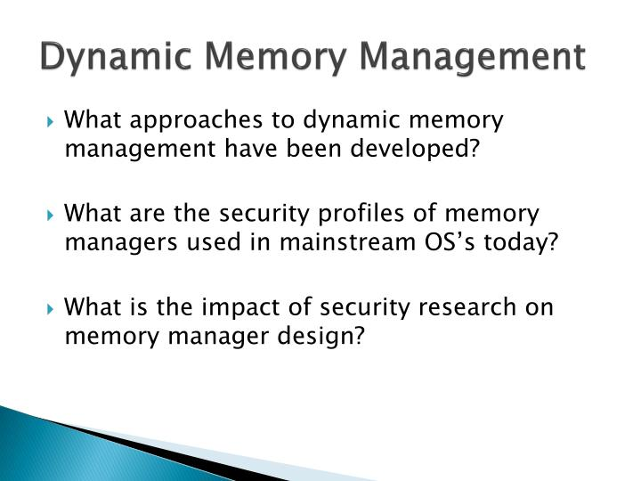 Dynamic memory management1