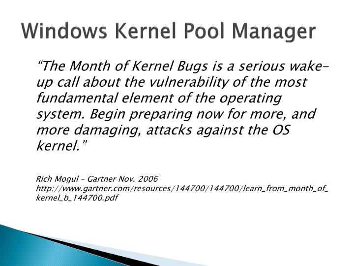 Windows Kernel Pool Manager