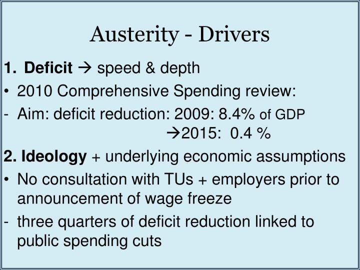 Austerity - Drivers