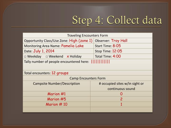 Step 4: Collect data