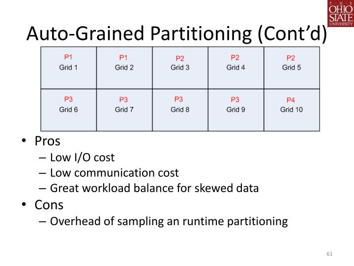 Auto-Grained Partitioning (Cont'd)