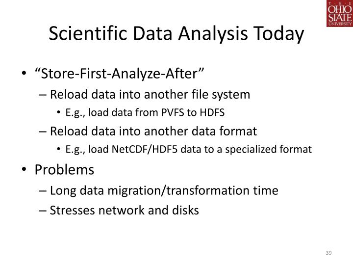 Scientific Data Analysis Today