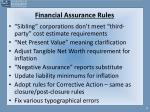 financial assurance rules