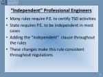 independent professional engineers