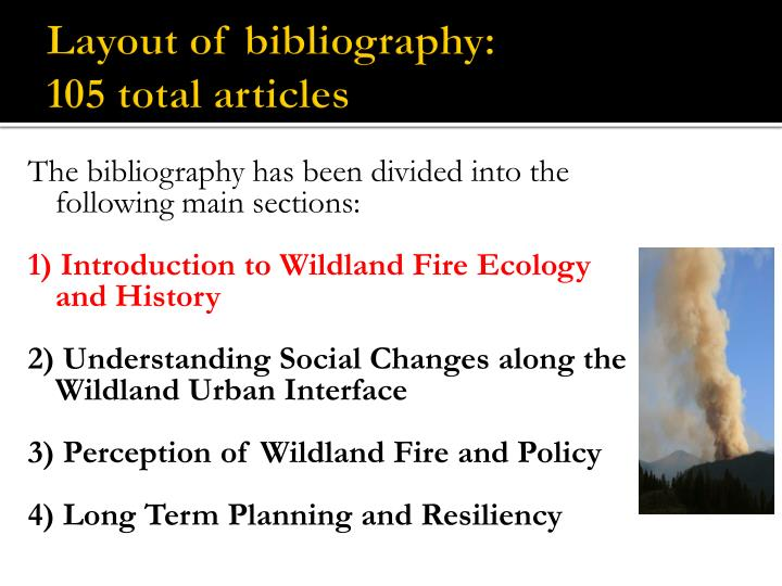 Layout of bibliography: