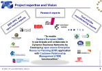 project expertise and vision