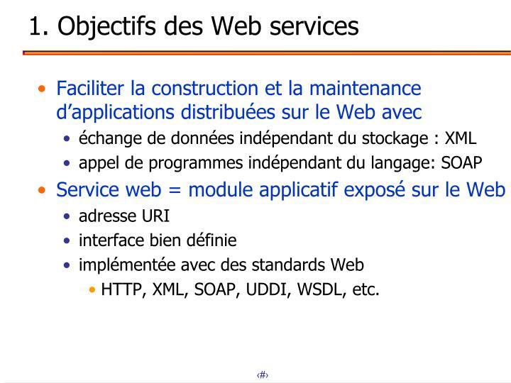 1. Objectifs des Web services