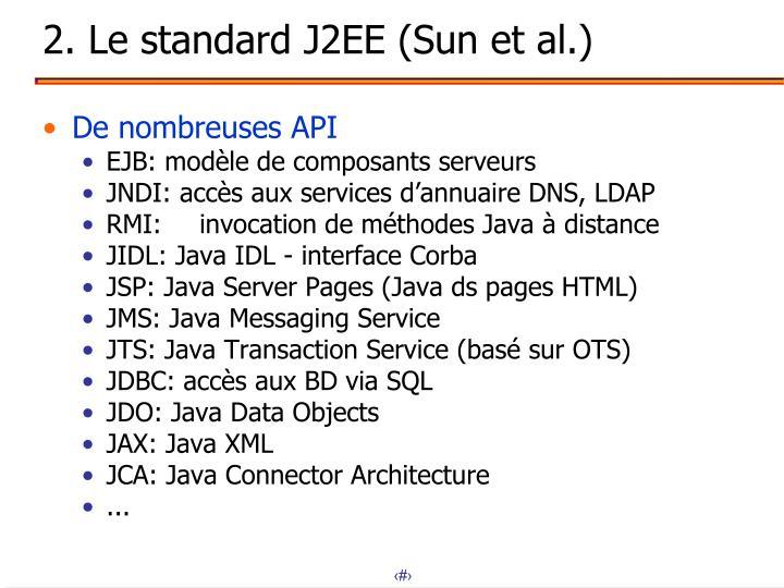 2. Le standard J2EE (Sun et al.)