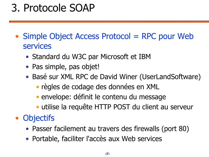 3. Protocole SOAP