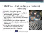 eumetal analiza stanja u metalnoj industriji