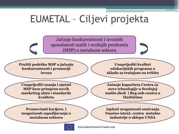 EUMETAL – Ciljevi projekta