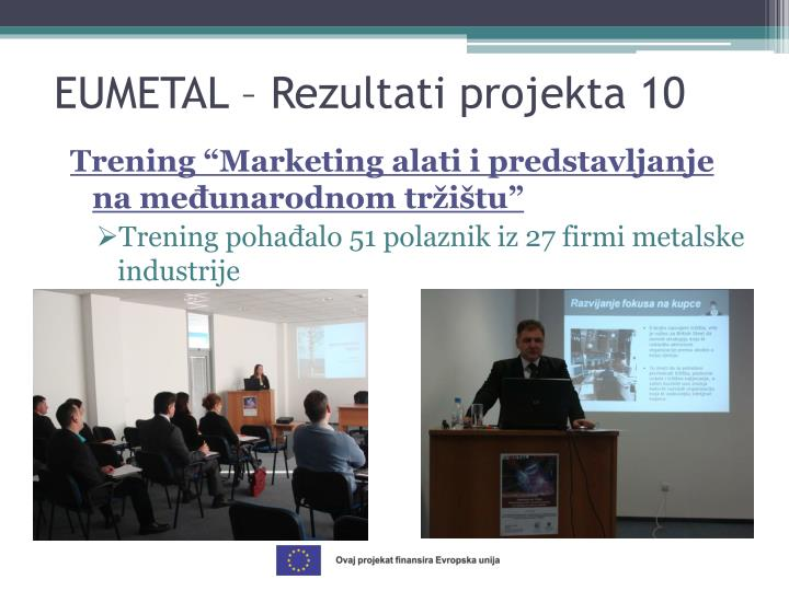 """Trening """"Marketing alati i predstavljanje na međunarodnom tržištu"""""""