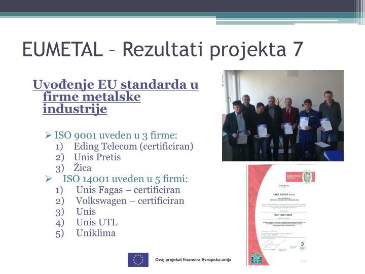 Uvođenje EU standarda u firme metalske industrije