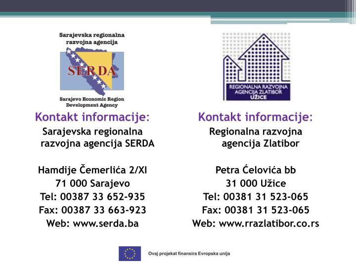 Kontakt informacije