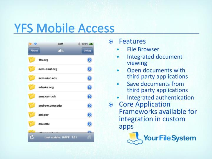 YFS Mobile Access