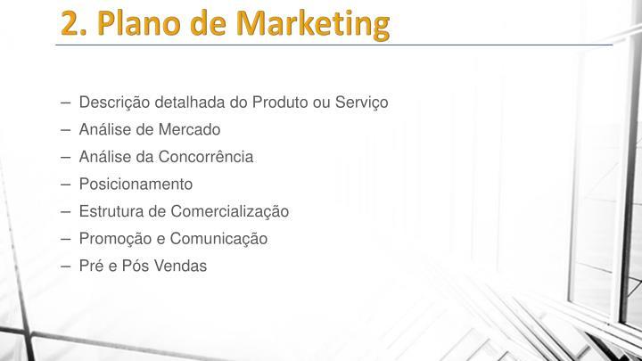 2. Plano de Marketing