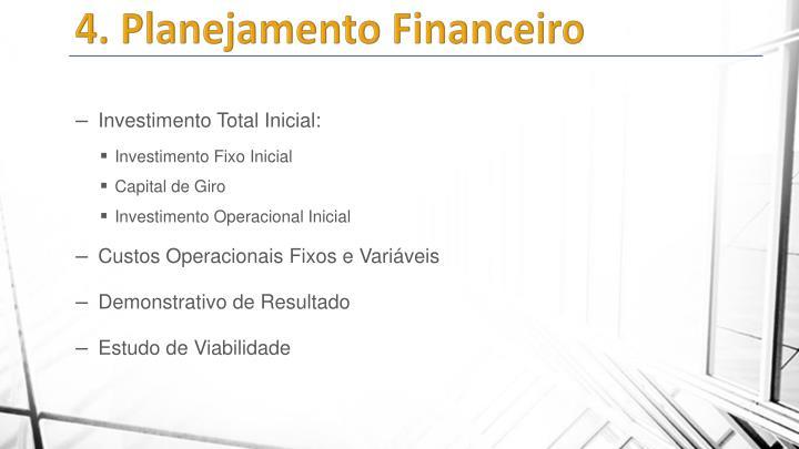 4. Planejamento Financeiro