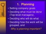 1 planning