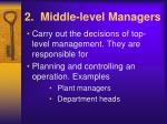 2 middle level managers