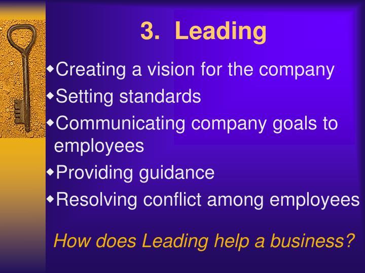 3.  Leading