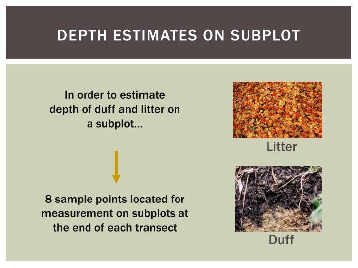 Depth Estimates on subplot