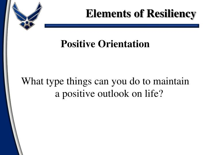 Elements of Resiliency