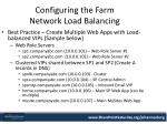 configuring the farm network load balancing1