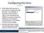 configuring the farm sql alias