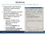kerberos step 3 allow user and computer accounts to delegate optional