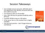 session takeaways