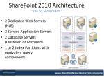 sharepoint 2010 architecture the six server farm
