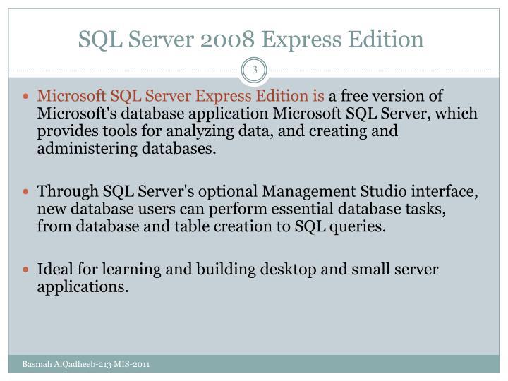 SQL Server 2008 Express Edition