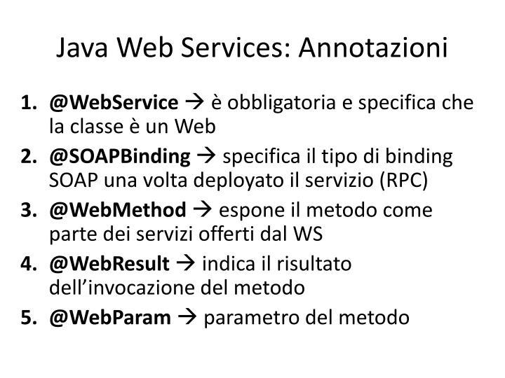 Java Web Services: