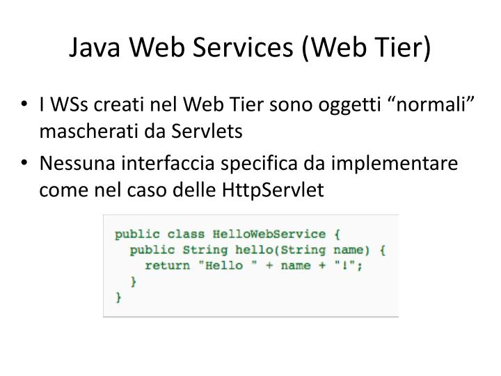 Java Web Services (Web Tier)