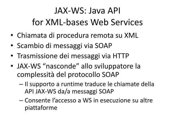 JAX-WS: Java API