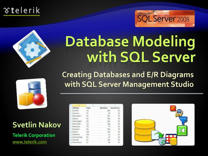 Database modeling with sql server