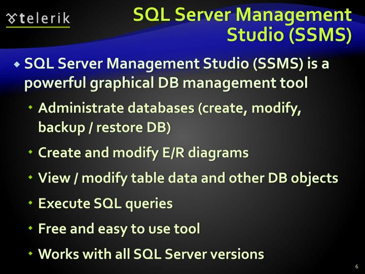 SQL Server Management Studio (SSMS)