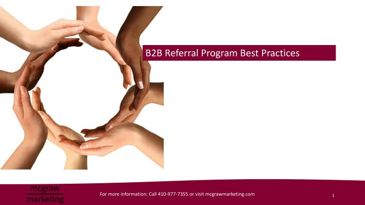 B2B Referral Program Best Practices