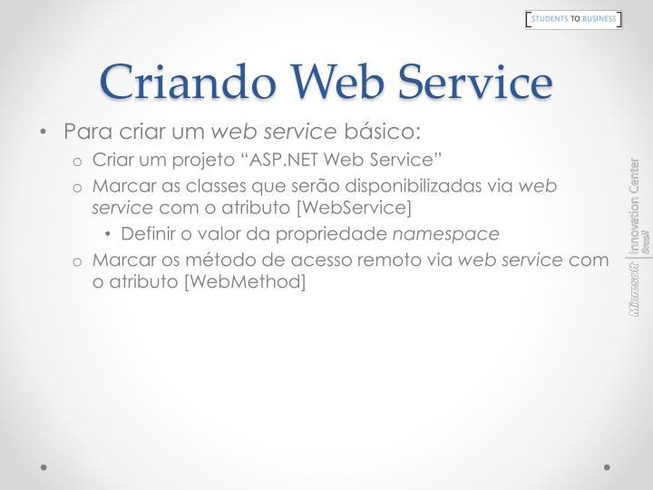 Criando Web