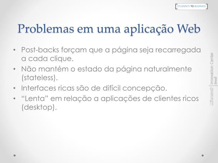 Problemas em uma aplicação Web