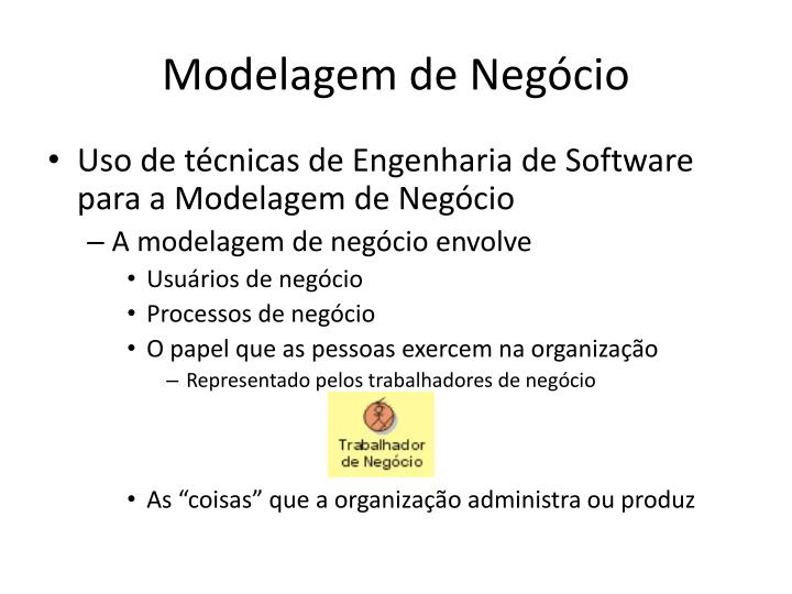 Modelagem de Negócio