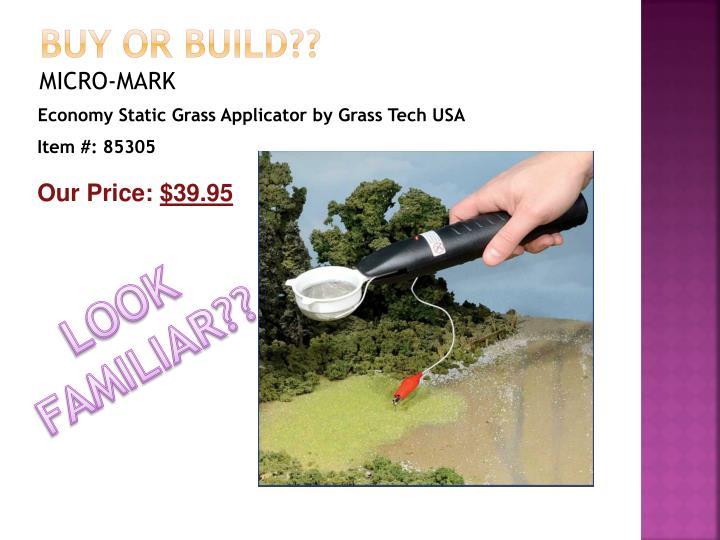 Buy OR build??