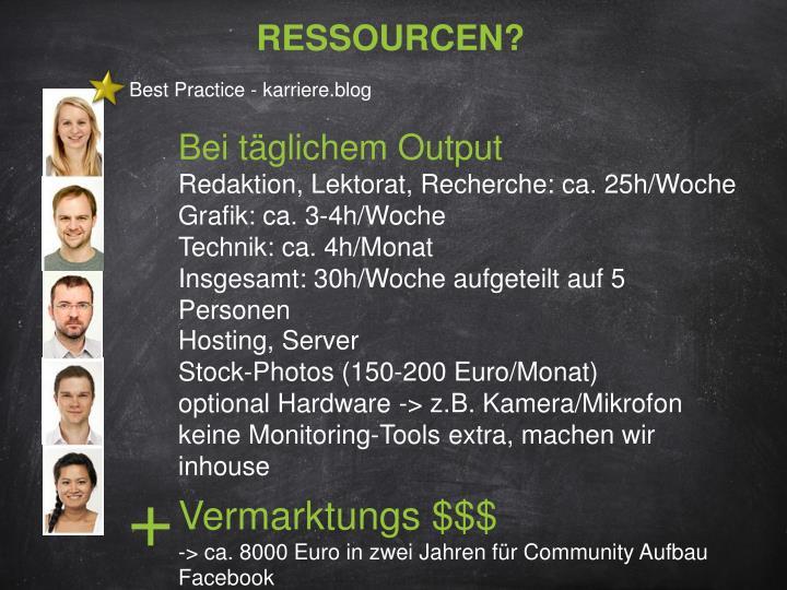 Ressourcen?
