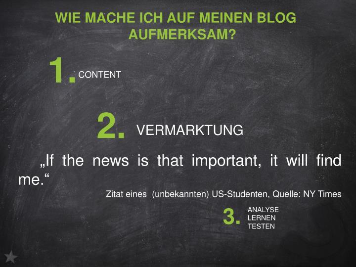 Wie mache ich auf meinen Blog aufmerksam?