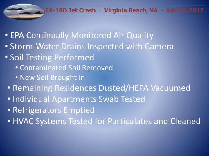 EPA Continually Monitored Air Quality