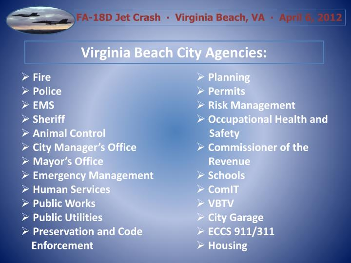 Virginia Beach City Agencies: