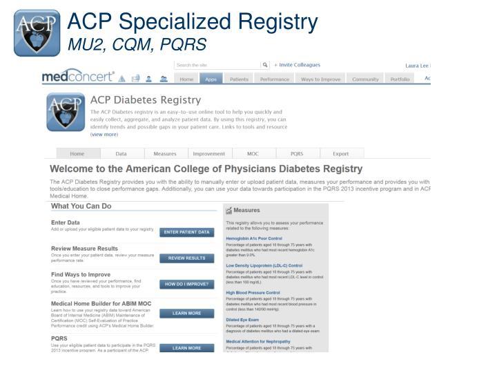 ACP Specialized Registry