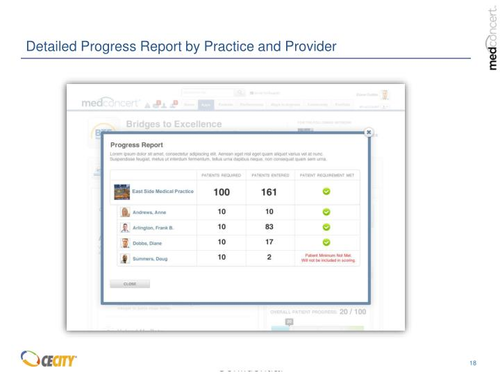 Detailed Progress Report by Practice and Provider